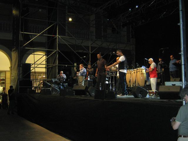 Un momento del concerto di Eddie Palmieri al Serravalle Outlet del 29 Luglio 2012
