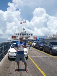 Il ferry boat per l'isola Culebra