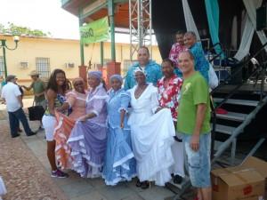 Al Festival della Bomba e della Plena di Loiza Aldea con il balletto folklorico dei Los Hermanos Ayala