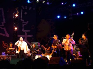 Willie Colon durante il concerto
