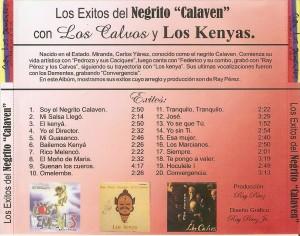 "La copertina del disco ""Exitos del Negrito Calaven"""