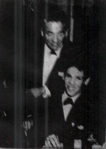 Joey Pastrana con il suo maestro, Gene Krupa.  New York 1965