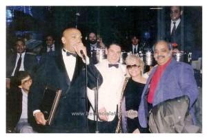 Jimmy Sabater, Joey Pastrana, Marlyn Winters e Willie Torres durante la consegna dei premi. New York, 8 gennaio 1993. Foto di Joey Pastrana.