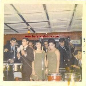 Joey Pastrana, Ismael Miranda, Becky e Sony Rivera.  Set. 1967. New York.  Foto de Joey Pastrana - ceduta a Herencia Latina