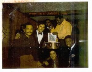 Ismael Rivera, Joey Pastrana, Kako, Rafael Cortijo, Santos Colón e Camilo Azuquita. Foto di Joey Pastrana ceduta a Herencia Latina.