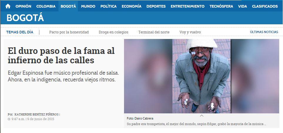 Anche i quotidiani colombiani dedicano spazio a questa notizia...