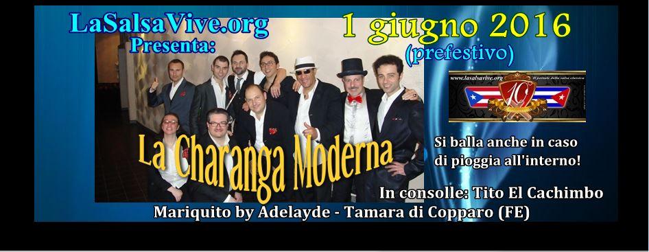 La Charanga Moderna suonerà il prossimo 1 giugno 2016 (prefestivo) all'Adelayde di Tamara di Copparo (FE)!