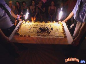 La torta del tredicesimo anniversario LaSalsaVive
